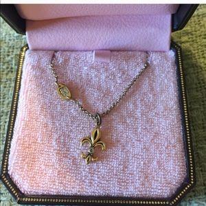 Juicy Couture Fleur de Lys Gold Necklace